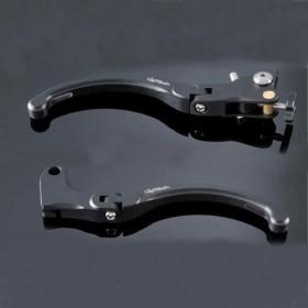 Levier de frein Lightech noir (vendu la paire)